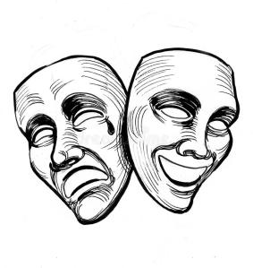 ink-black-white-drawing-sad-happy-theater-masks-theater-masks
